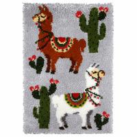 Latch Hook Kit: Rug: Llama By Orchidea