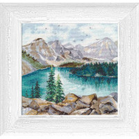 MORAINE LAKE cross stitch kit by OVEN