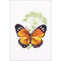 "Counted Caraway And Butterfly Cross Stitch Kit 3.25""X3.75"" by RTO"