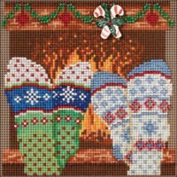 "Cozy Feet by  Buttons & Beads Counted Cross Stitch Kit 5""X5"" by Mill Hill"