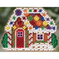 Gingerbread Cottage Glass Beading Kit by Mill House