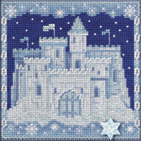 Ice Castle cross stitch and Glass Beading kit by MILL HILL