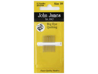 Pack of Big Eye Quilting Needles. Size 10