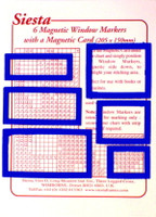 Magnetic window markers - Blue