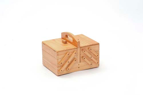 Light Wooden Sewing Box