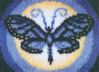Butterfly Moon Latch Hook Rug Kit