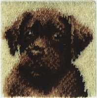 Chocolate Dog Latch Hook Rug
