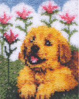 Flower Pup Latch Hook Rug Kit