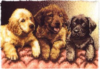 Lab Puppies Latch Hook Rug