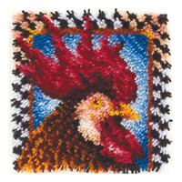 Rooster Latch Hook Rug Kit