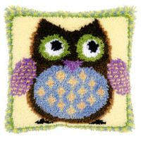 Mr Owl Latch Hook Rug Kit by Vervaco