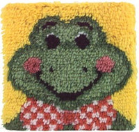 Froggy Latch Hook Rug Kit