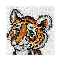 Tiger Cub Latch hook Rug Kit