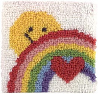 Sunshine Rainbow Latch Hook Rug Kit