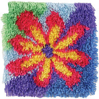 Flower Power Latch Hook Rug Kit
