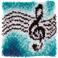 Treble Clef Music Latch Hook Rug Kit