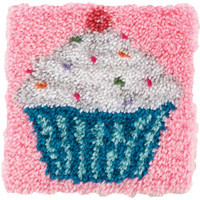 Cupcake Latch Hook Rug Kit by Caron