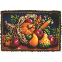 Country Harvest Latch Hook Rug by Caron