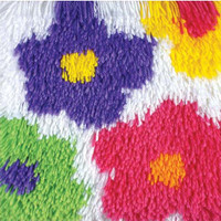 Shaggy - Flowers Latch Hook Rug by Caron
