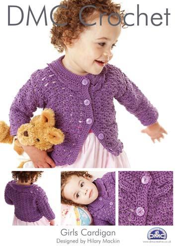 Girls Cardigan Crochet Pattern Booklet
