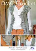 Waterfall Front Waistcoat Crochet Pattern Booklet