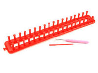 Red knitting loom