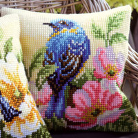 Bird on Rose Chunky Cross stitch Kit by Vervaco
