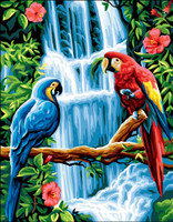 Les Aras Tapestry Canvas
