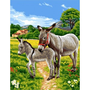 Les Anes Tapestry Canvas