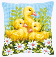 Duckling and Daisies Chunky Cross Stitch Kit by Vervaco