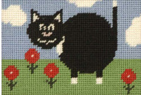 Percy Pussy Cat Tapestry Kit