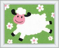 Sheep Children Tapestry Kit