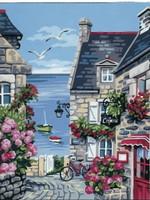 La Rue du Port Tapestry Canvas