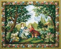Charmes de la vie Champetre d apres Boucher Tapestry Canvas