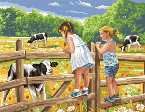 Les Enfants Sur Une Cloture Tapestry Canvas