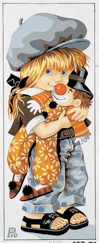 Clowny de pio Tapestry Canvas