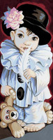 Pierrot De pio Tapestry Canvas