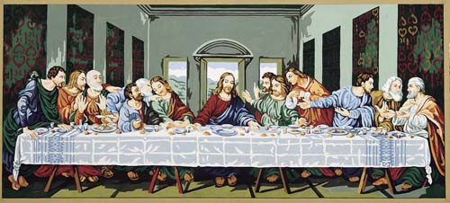 La Cene d apres Leonard de vinci Tapestry Canvas