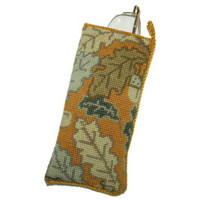 Gold Acorn Tapestry Spectacles Case Kit