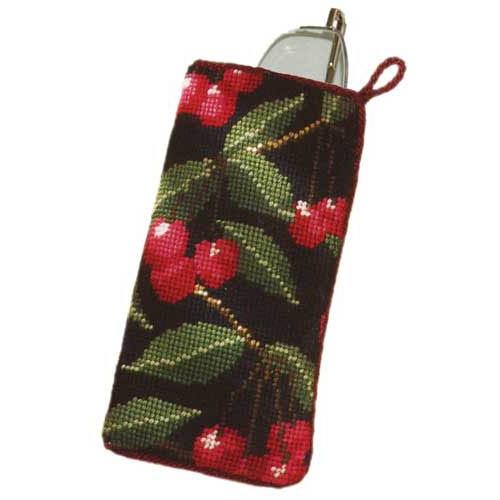 Black Cherry Tapestry Spectacles Case Kit