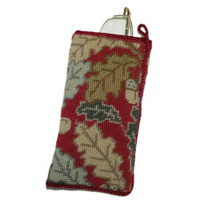 Red Acorn Tapestry Spectacles Case Kit
