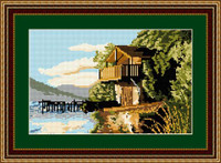 Ullswater Boathouse Tapestry Kit