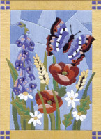 Stained Glass Butterfly Long Stitch Kit