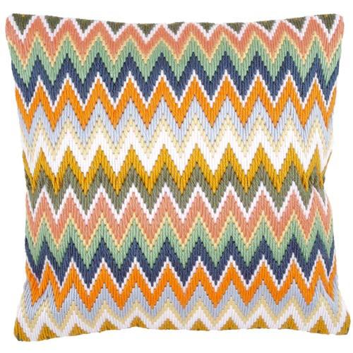 Zigzag Longstitch Cushion Kit by Vervaco