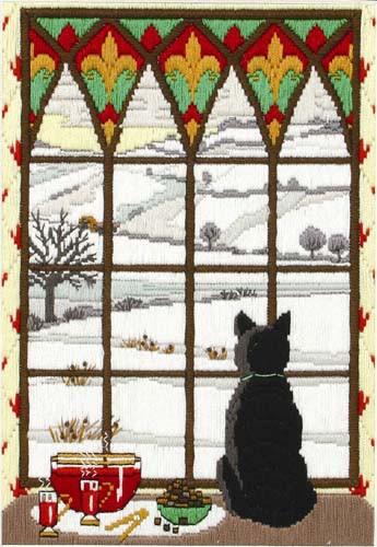 Winter Though the Window Long Stitch Kit