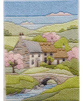 Spring Cottage Long Stitch Kit