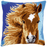 Brown Horse Tapestry Cushion Kit by Vervaco