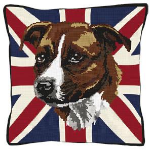 Staffie  Tapestry Cushion Kit