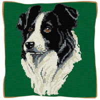 Border Collie Tapestry Cushion Kit