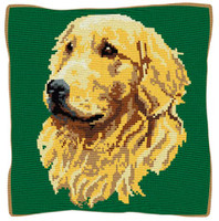 Golden Retriever Tapestry Cushion Kit